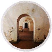 El Morro Fort Barracks Arched Doorways San Juan Puerto Rico Prints Round Beach Towel