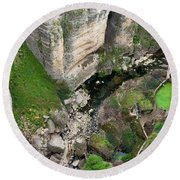 El Tayo River Gorge In Ronda Round Beach Towel