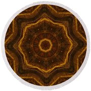 Electric Mandala 6 Round Beach Towel