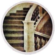 Elegant Staircase Round Beach Towel