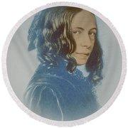 Elizabeth Barrett Browning, English Poet Round Beach Towel