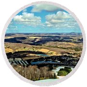 Elk Mountain Ski Resort Round Beach Towel