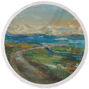 Elkhorn Slough Round Beach Towel