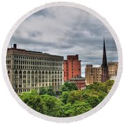 Ellicott Square Building     St. Joseph Cathedral     Prudential Guaranty Building Round Beach Towel