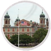 Ellis Island Round Beach Towel