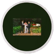 Elvis And The Blues Round Beach Towel