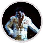 Elvis Is Alive Round Beach Towel