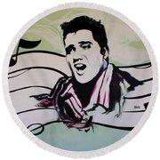 Elvis Round Beach Towel
