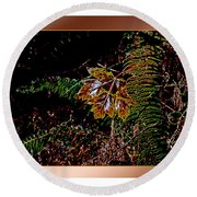 Elwha Leaf Round Beach Towel