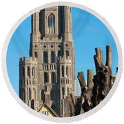 Ely Cathedral Round Beach Towel