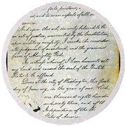 Emancipation Proc., P. 4 Round Beach Towel