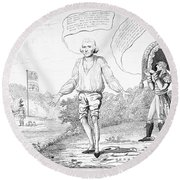 Embargo Repeal, 1809 Round Beach Towel
