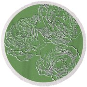 Embossed Roses Round Beach Towel by Will Borden