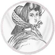 Emily Bront� (1818-1848) Round Beach Towel