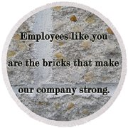 Employee Service Anniversary Thank You Card - Cement Wall Round Beach Towel