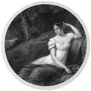 Empress Josephine Round Beach Towel