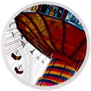 Empty Swing Ride Round Beach Towel