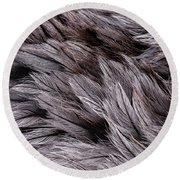 Emu Feathers Round Beach Towel