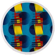 En Formes 01f Round Beach Towel by Aimelle