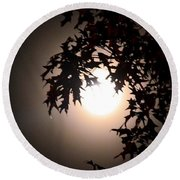 Enchanted By Moonlight Round Beach Towel