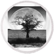 Enchanted Moon Round Beach Towel