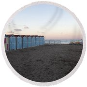 End Of Day - Mondello Beach Round Beach Towel