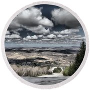 End Of The Season Round Beach Towel