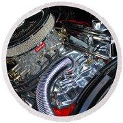 Engine 632 Round Beach Towel