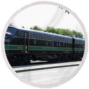 Engine 902 - Reading Lines Round Beach Towel