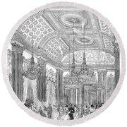 England - Royal Ball 1848 Round Beach Towel