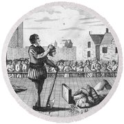 England: Beheading, 1554 Round Beach Towel