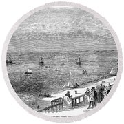 England: Brighton, 1853 Round Beach Towel