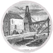 England: Coal Mining Round Beach Towel
