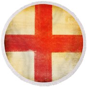 England Flag Round Beach Towel