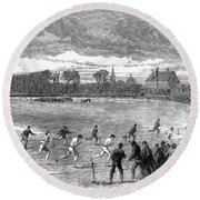 England: Foot Race, 1866 Round Beach Towel