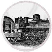 England: Locomotive, C1831 Round Beach Towel
