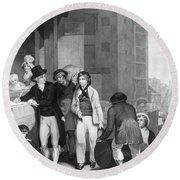 England: Merchant, 1800 Round Beach Towel