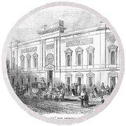 England: Theatre, 1843 Round Beach Towel