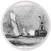 England: Yacht Race, 1843 Round Beach Towel