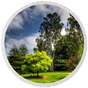 English Countryside  Round Beach Towel by Adrian Evans