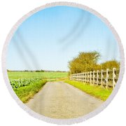 English Countryside Round Beach Towel