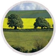The Cotswolds 2 Round Beach Towel