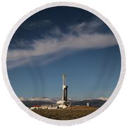 Ensign Drilling Rig 125 Round Beach Towel