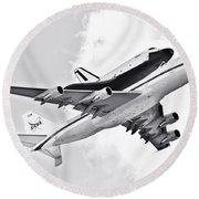 Enterprise Shuttle Piggyback Ride Round Beach Towel