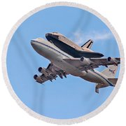 Enterprise Space Shuttle  Round Beach Towel