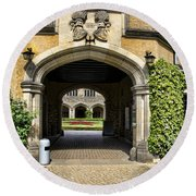 Entrance To Cecilienhof Palace Round Beach Towel