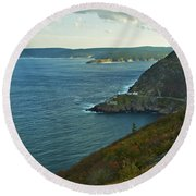 Entrance To St. John's Harbour Round Beach Towel