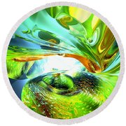 Envious Thoughts Abstract Round Beach Towel