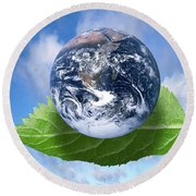 Environmental Issues Round Beach Towel by Victor de Schwanberg  and Photo Researchers
