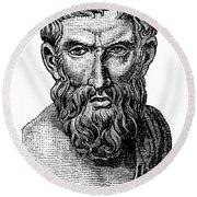 Epicurus (343?-270 B.c.) Round Beach Towel